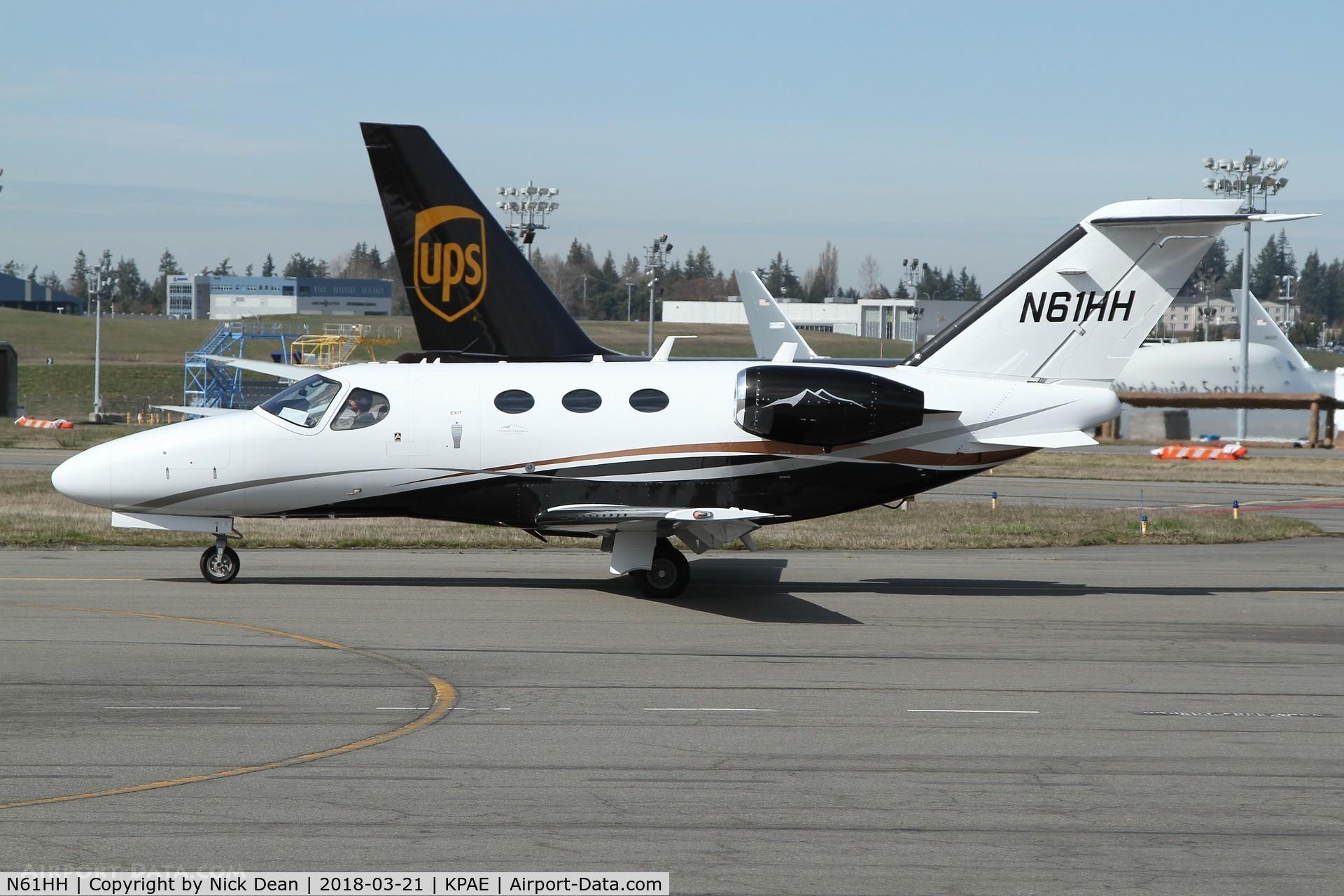 N61HH, 2011 Cessna 510 Citation Mustang Citation Mustang C/N 510-0390, PAE/KPAE