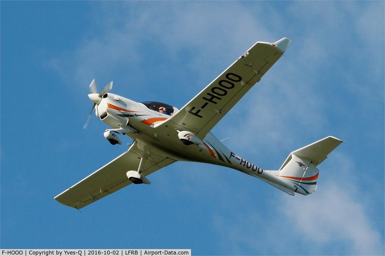 F-HOOO, 2013 Diamond DA-40 Diamond Star C/N D4.144, Diamond DA-40 Diamond Star, Take off rwy 25L, Brest-Bretagne Airport (LFRB-BES)