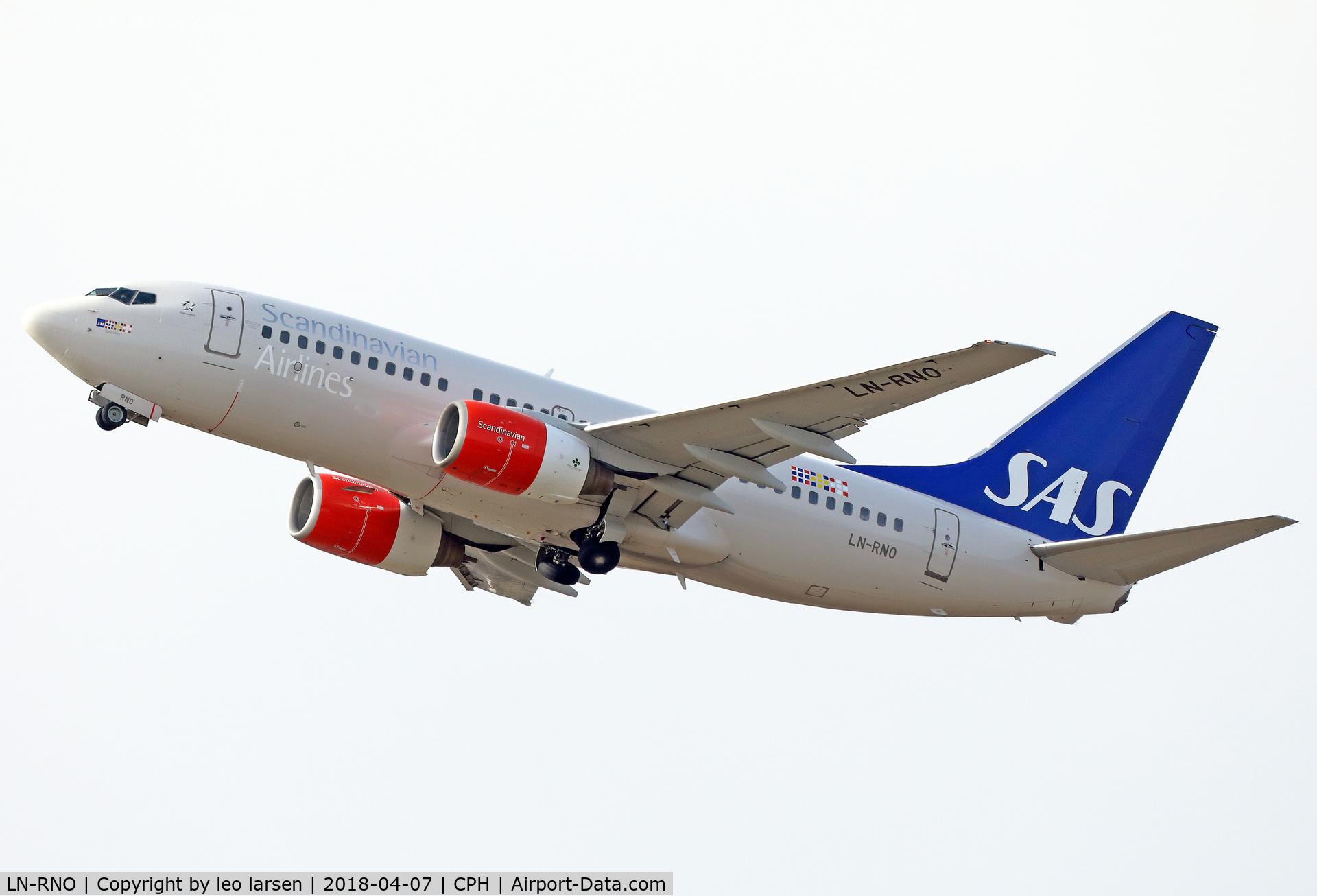 LN-RNO, 1999 Boeing 737-783 C/N 28316, Copenhagen 7.4.2018
