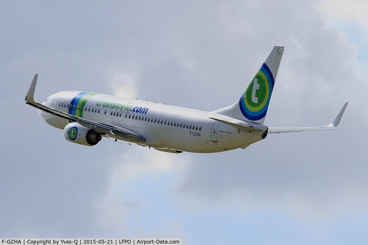 F-GZHA, 2007 Boeing 737-8GJ C/N 34901, Boeing 737-8GJ, Take off rwy 24, Paris-Orly airport (LFPO-ORY)
