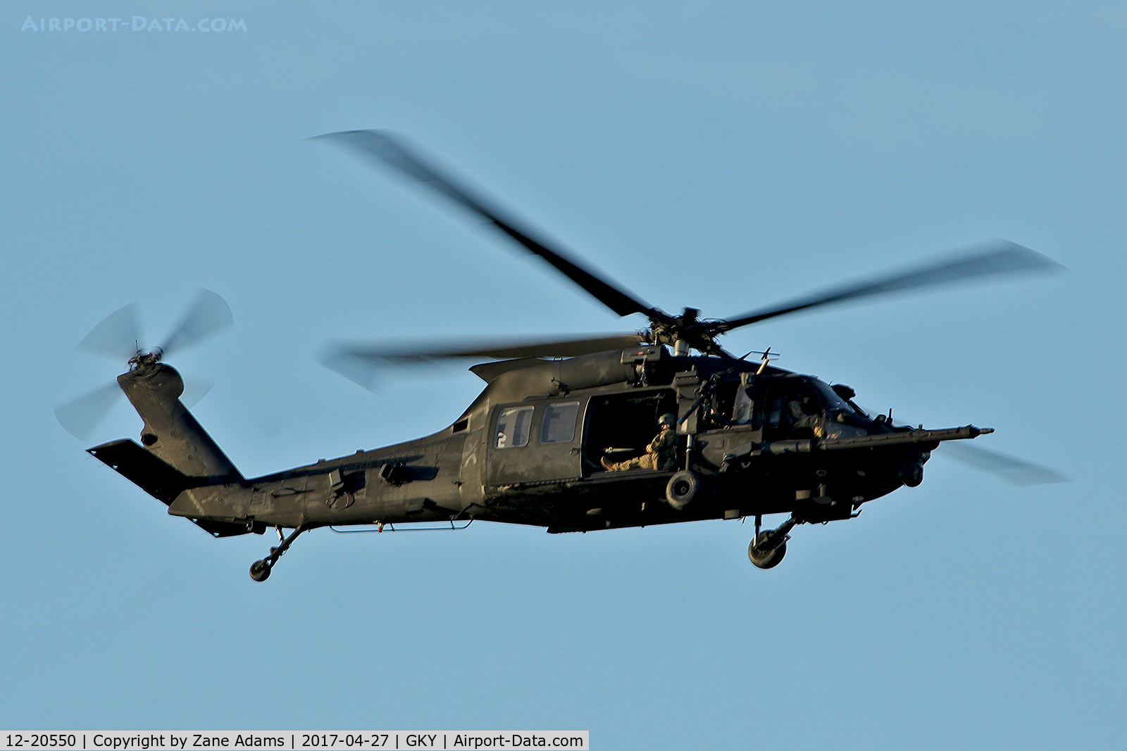 12-20550, 2012 Sikorsky UH-60M C/N 12-20550, Departing Arlington Municipal on a nighttime urban combat training mission