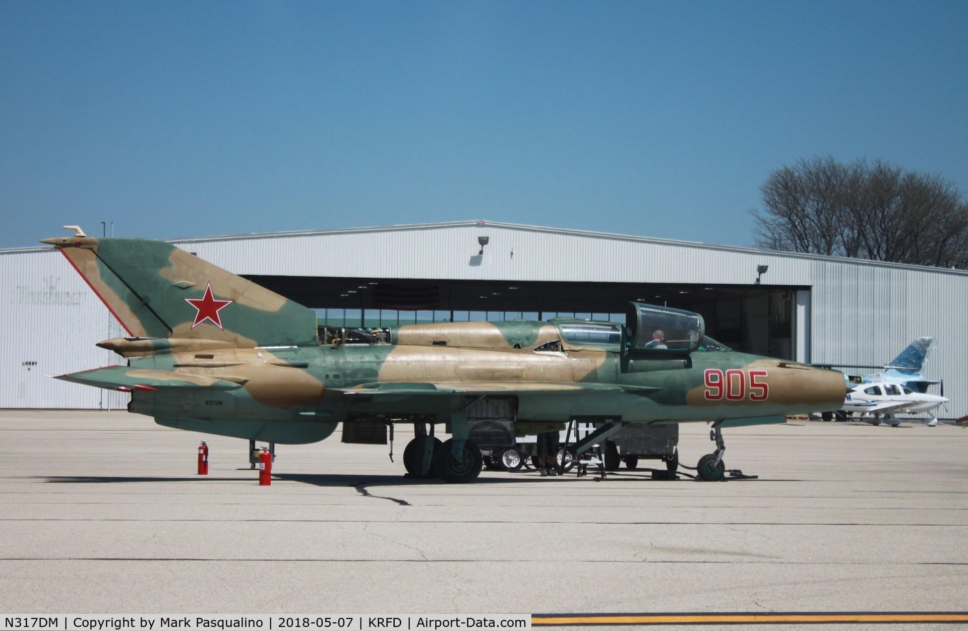 N317DM, 1974 Mikoyan-Gurevich MiG-21UM Lancer B C/N 516913056, MiG-21UM