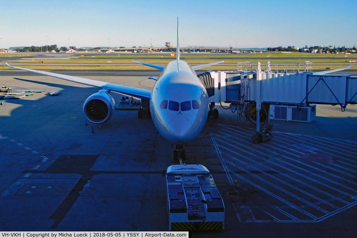 VH-VKH, 2014 Boeing 787-8 Dreamliner C/N 36233, At Mascot