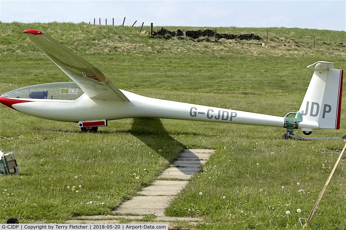 G-CJDP, Glaser-Dirks DG-200/17 C/N 2-134/1732, At Camphill Farm , Great Hucklow , Derbyshire