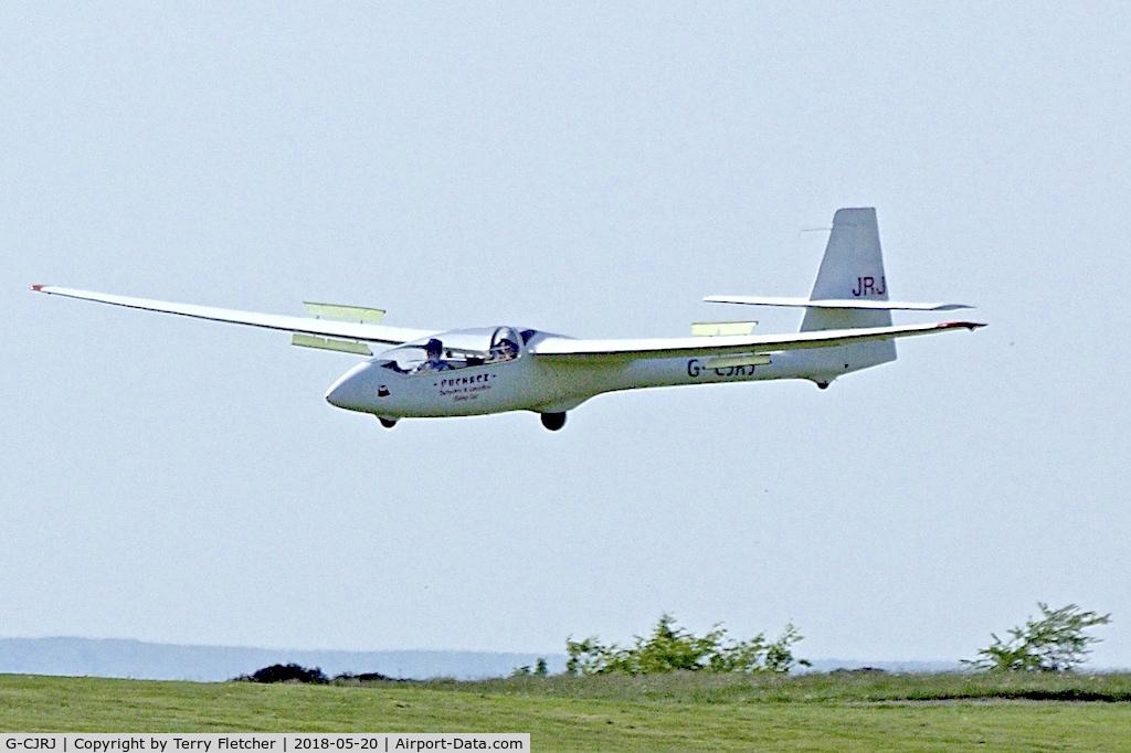 G-CJRJ, 1999 PZL-Bielsko SZD-50-3 Puchacz C/N 503199327, At Camphill Farm , Great Hucklow , Derbyshire