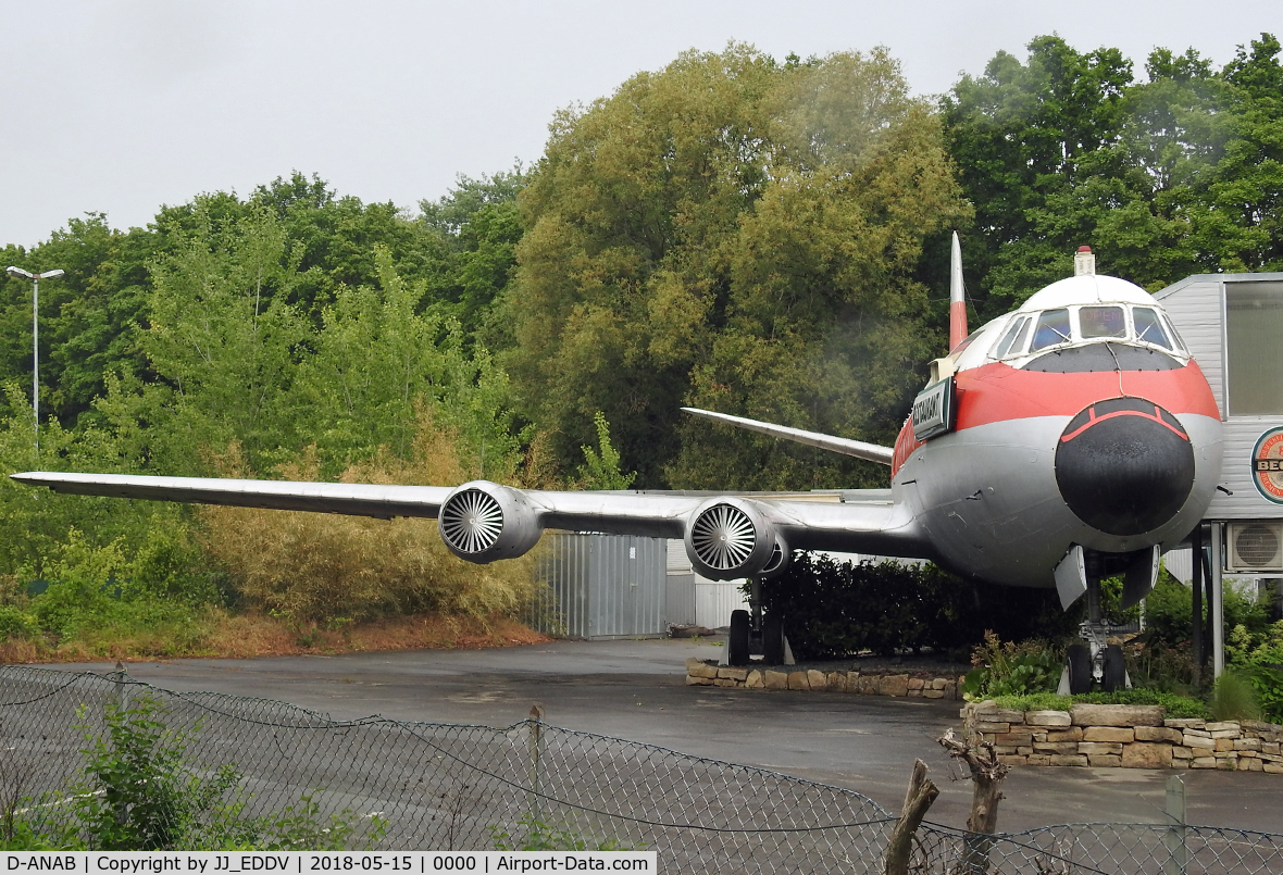 D-ANAB, 1959 Vickers Viscount 814 C/N 369, Visit this nice Restaurante at Hannover / Germany