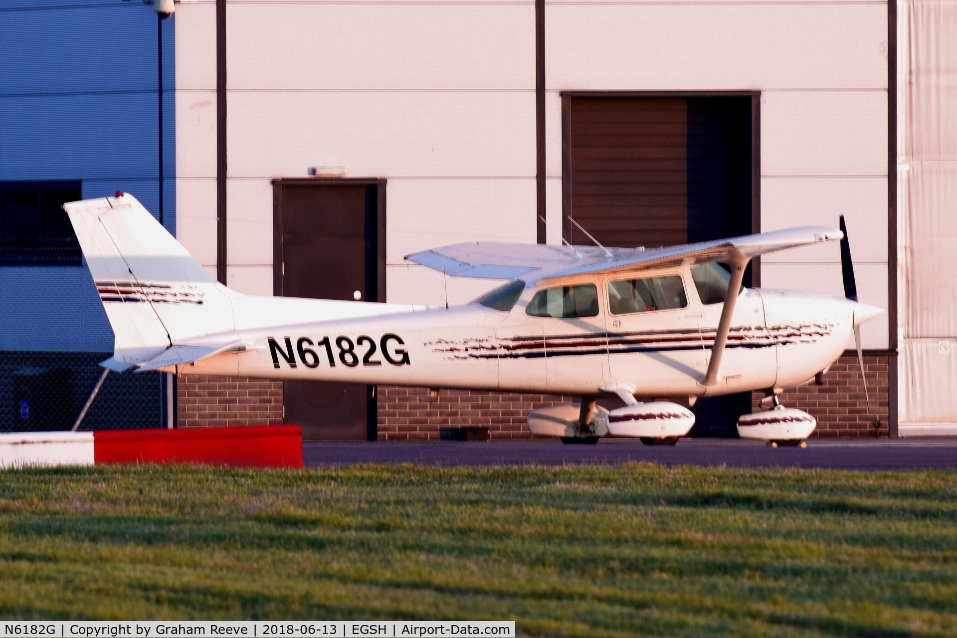 N6182G, 1979 Cessna 172N Skyhawk C/N 17273576, Parked at Norwich.