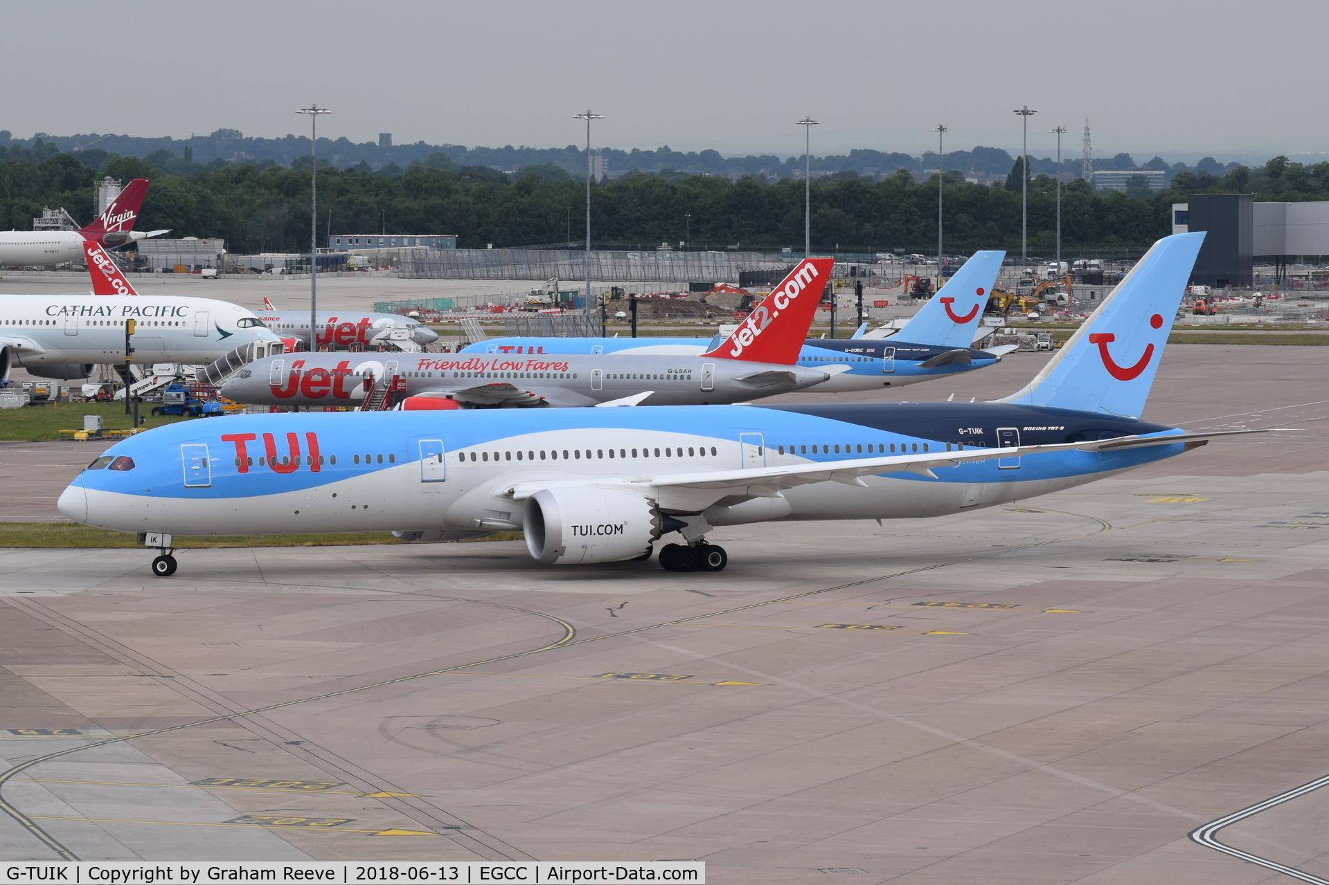 G-TUIK, 2017 Boeing 787-9 Dreamliner C/N 44579, Departing from Manchester.