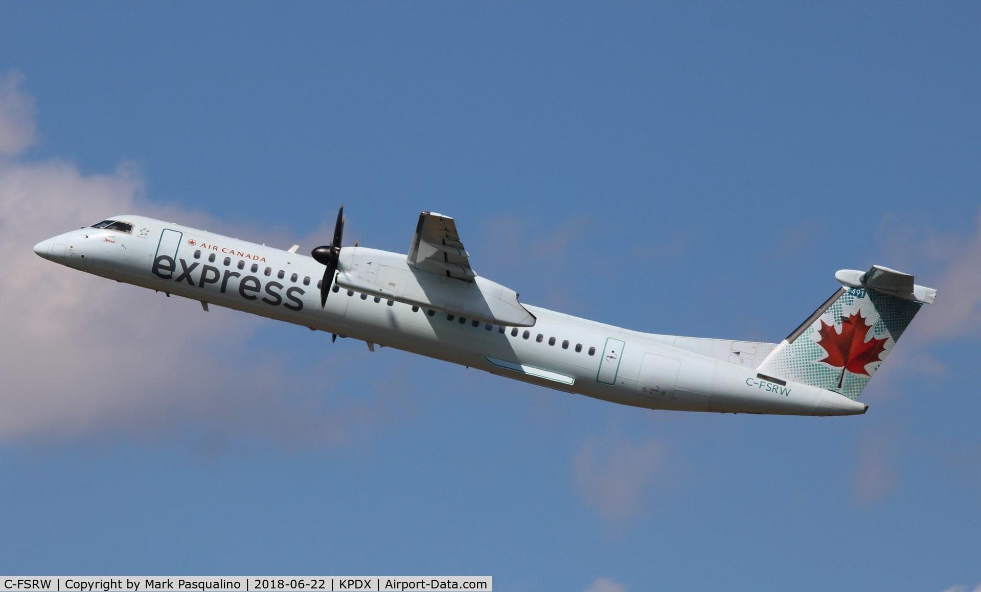 C-FSRW, 2008 De Havilland Canada DHC-8-402Q Dash 8 C/N 4221, DHC-8-402