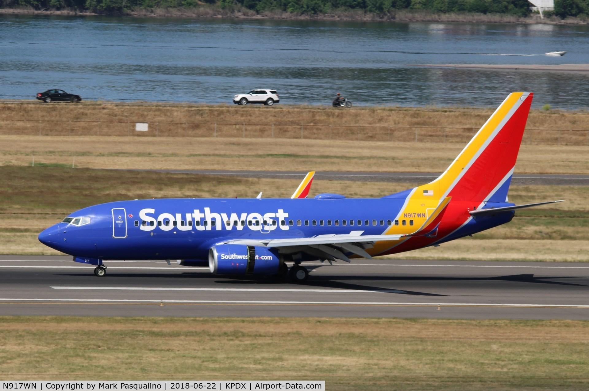 N917WN, 2008 Boeing 737-7H4 C/N 36624, Boeing 737-700
