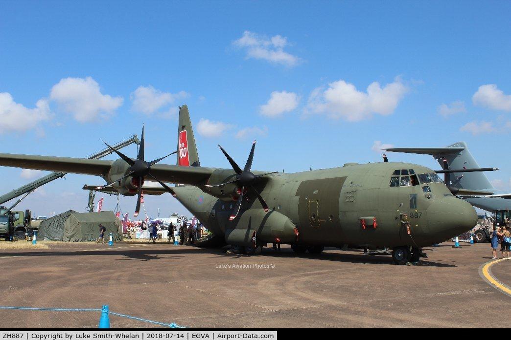 ZH887, 1999 Lockheed Martin C-130J Hercules C.5 C/N 382-5485, At RIAT 2018