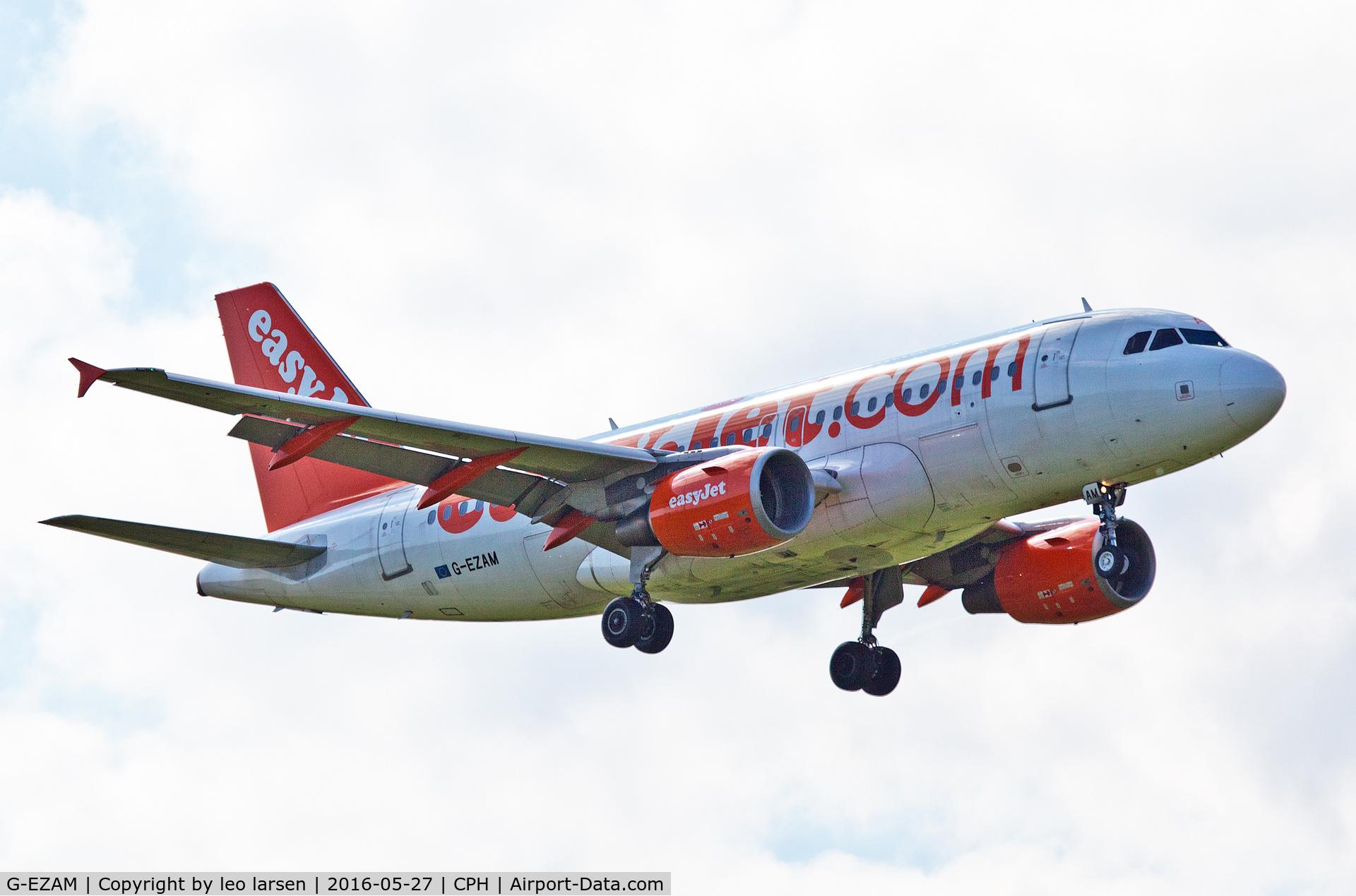 G-EZAM, 2003 Airbus A319-111 C/N 2037, Copenhagen 27.5.2016 L/D R-04L