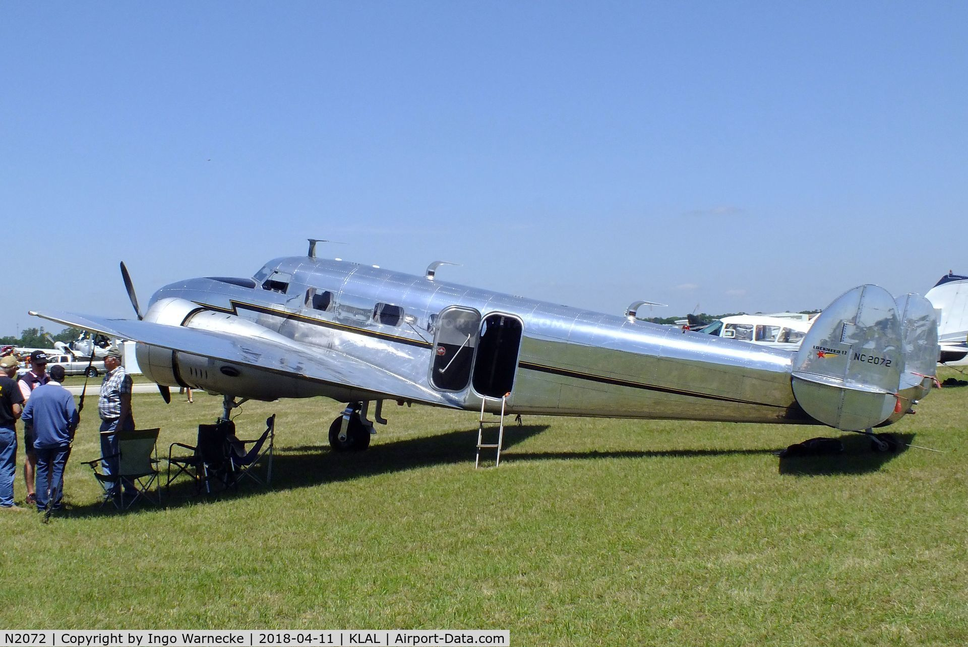 N2072, 1936 Lockheed 12A Electra Junior C/N 1208, Lockheed 12A Electra Junior at 2018 Sun 'n Fun, Lakeland FL