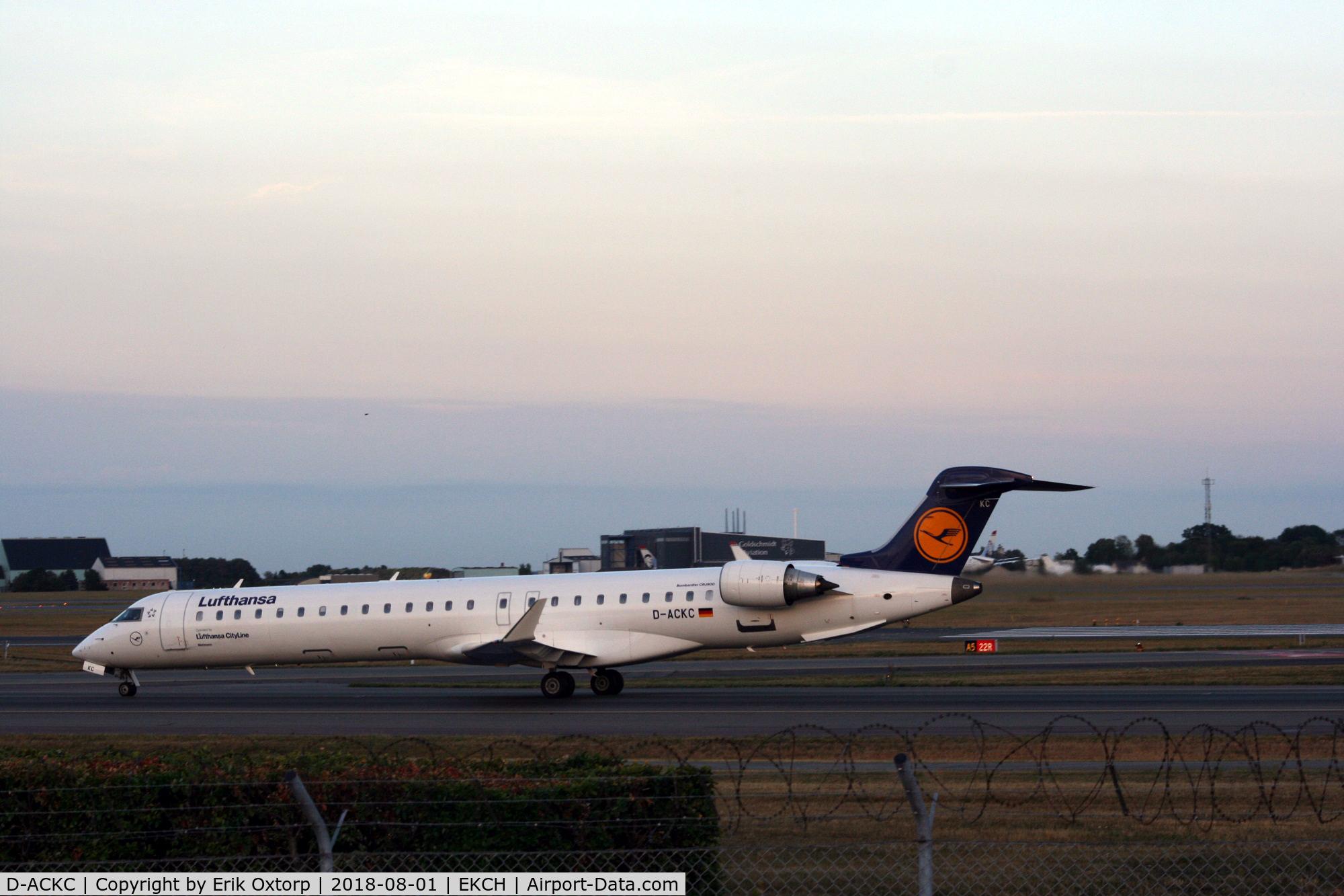 D-ACKC, 2006 Bombardier CRJ-900LR (CL-600-2D24) C/N 15078, D-ACKC landed rw 04L