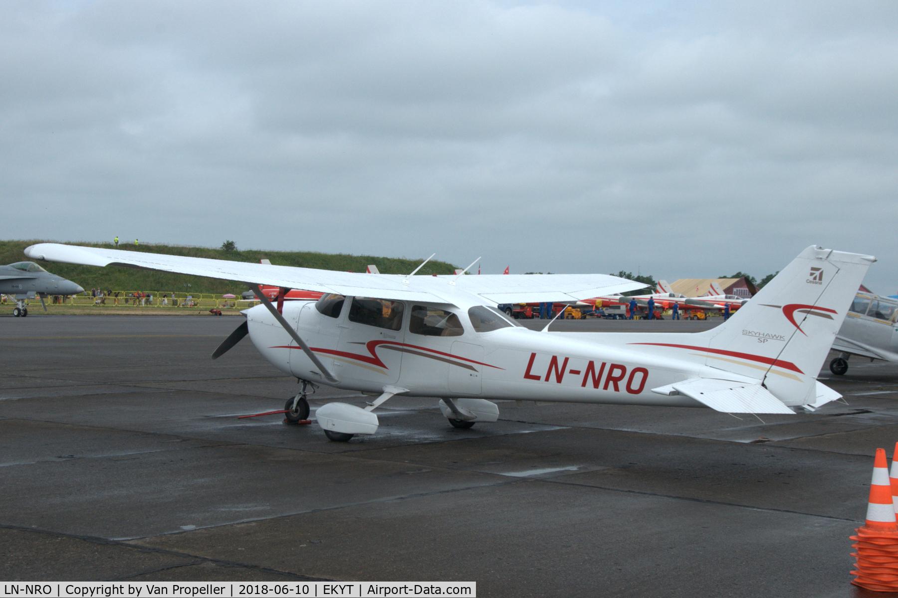 LN-NRO, Cessna 172S Skyhawk C/N 172S11011, Cessna 172S Skyhawk SP of the Norwegian Nedre Romerike Flyklubb at Aalborg airport, Denmark (air show 2018)