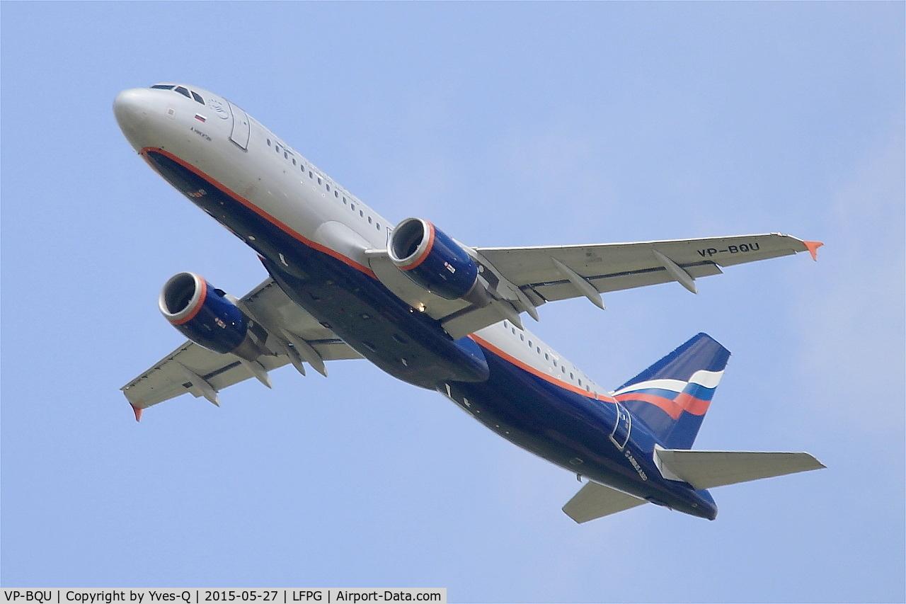 VP-BQU, 2008 Airbus A320-214 C/N 3373, Airbus A320-214, Take off rwy 27L, Roissy Charles De Gaulle airport (LFPG-CDG)