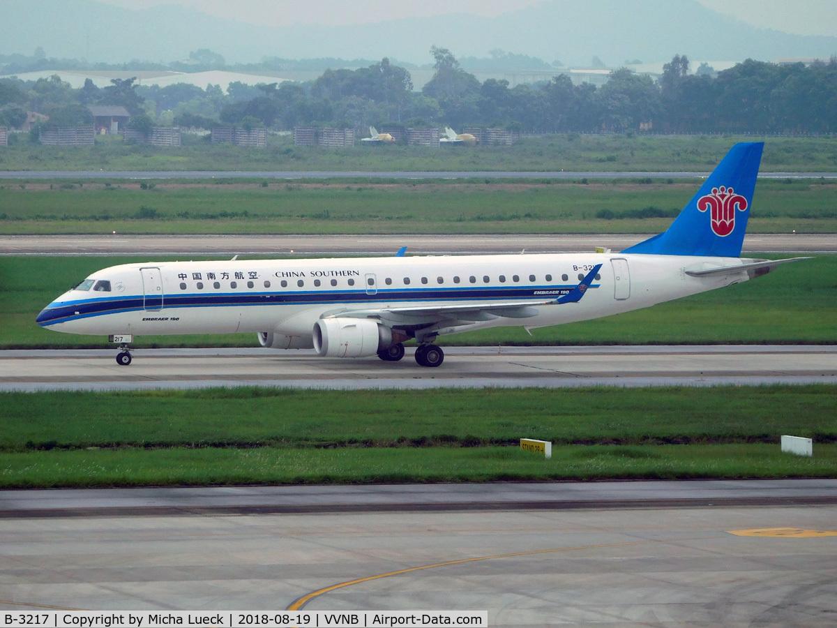 B-3217, 2013 Embraer 190LR (ERJ-190-100LR) C/N 19000605, At Hanoi