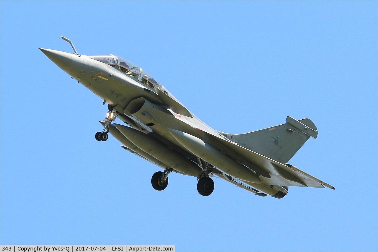 343, Dassault Rafale B C/N 343, Dassault Rafale B, Short approach rwy 29, St Dizier-Robinson Air Base 113 (LFSI)