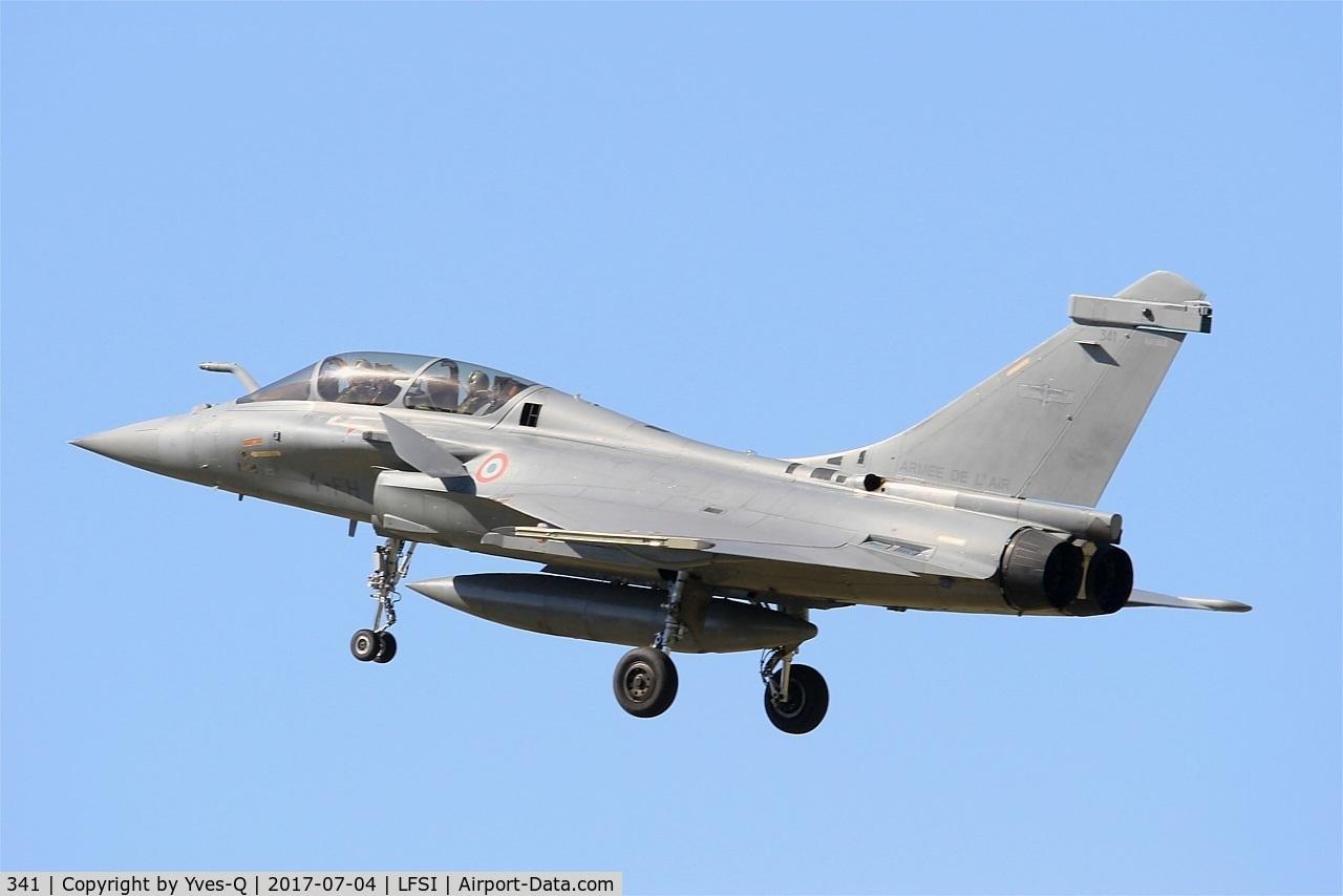 341, Dassault Rafale B C/N 341, Dassault Rafale B, On final rwy 29, St Dizier-Robinson Air Base 113 (LFSI)