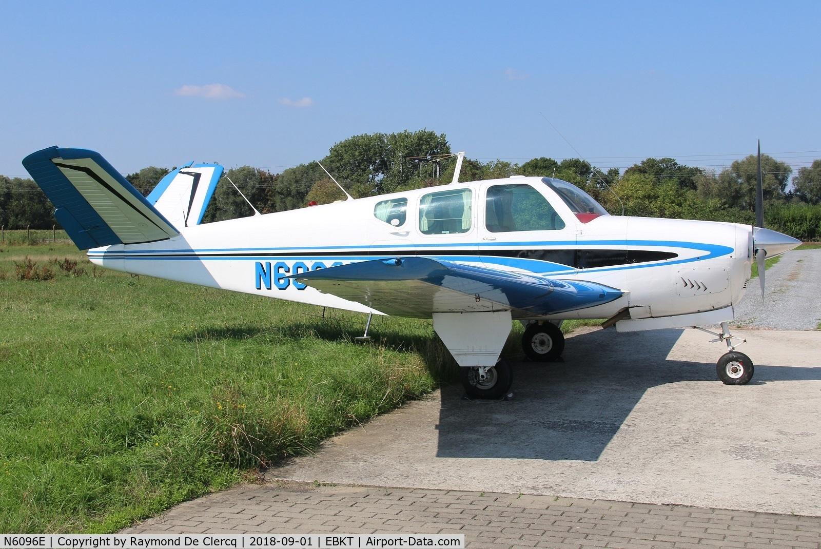 N6096E, 1959 Beech K35 Bonanza C/N D-6036, Parked at Wevelgem.