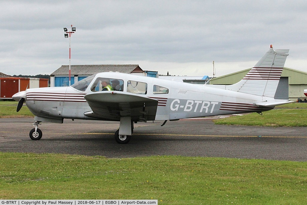 G-BTRT, 1975 Piper PA-28R-200 Cherokee Arrow C/N 28R-7535270, Project Propeller Day. Ex:-N1189X.