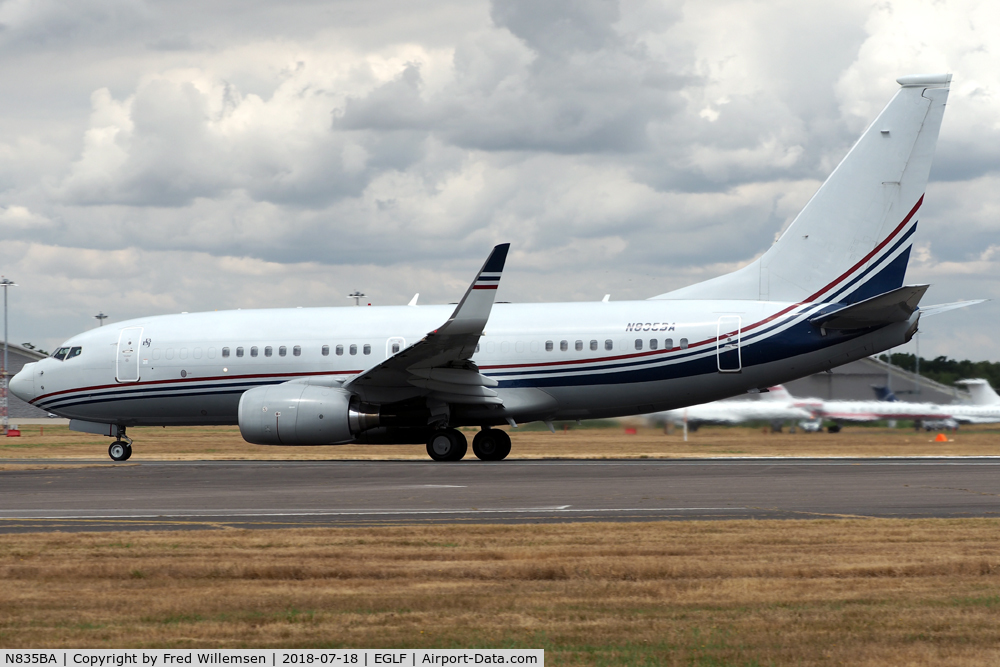N835BA, 2001 Boeing 737-7BC C/N 30572,