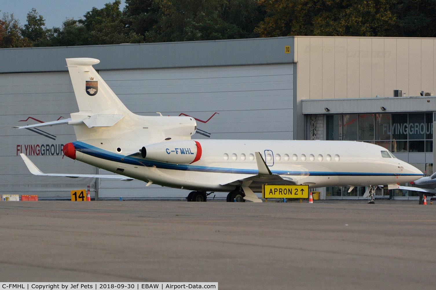C-FMHL, 2012 Dassault Falcon 7X C/N 172, At Antwerp Airport.