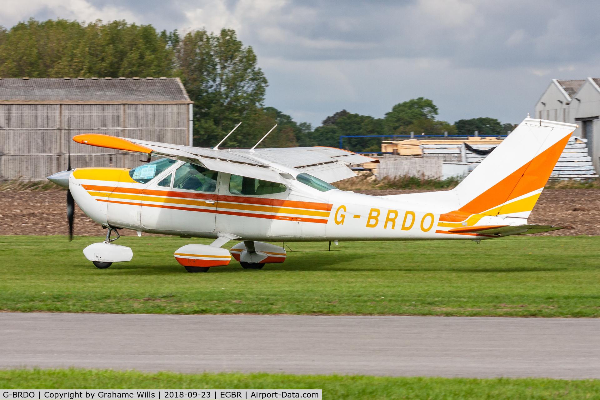 G-BRDO, 1975 Cessna 177B Cardinal C/N 17702166, Cessna 177B G-BRDO Cardinal Aviation, Breighton 23/9/18