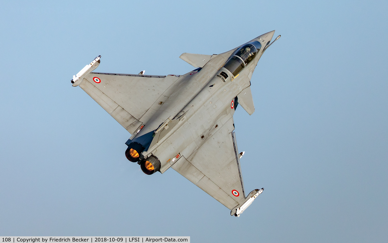 108, Dassault Rafale C C/N 108, tight turn after a go-around