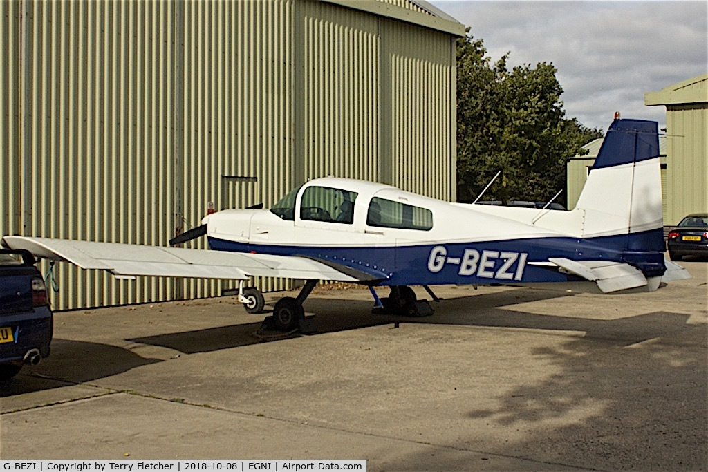 G-BEZI, 1974 Grumman American AA-5 Traveler C/N AA5-0567, At Skegness Airport , Lincolnshire