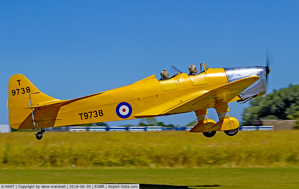 G-AKAT, 1940 Miles M14A Hawk Trainer 3 C/N 2005, In good shape