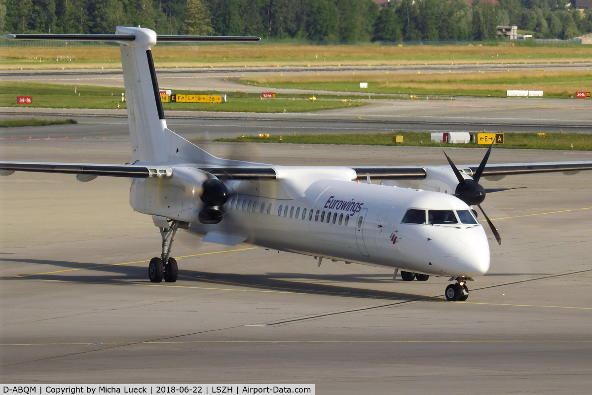 D-ABQM, 2006 Bombardier DHC-8-402Q Dash 8 C/N 4119, At Zurich