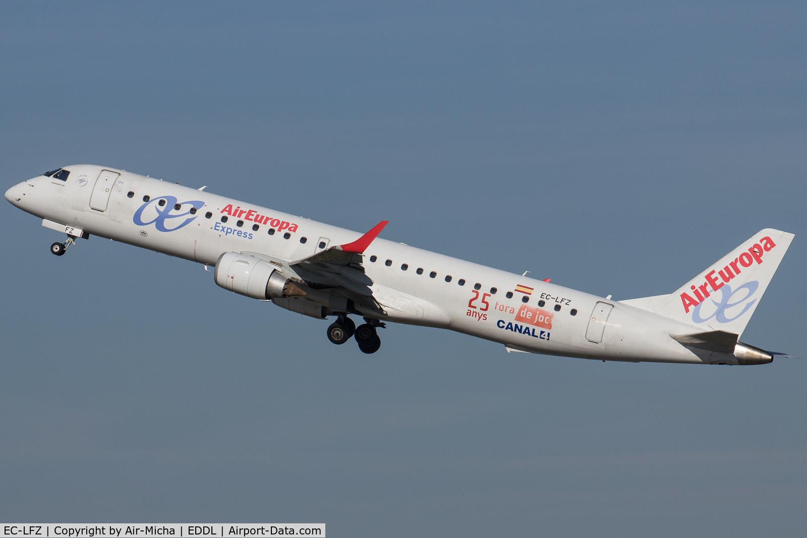EC-LFZ, 2010 Embraer 195LR (ERJ-190-200LR) C/N 19000357, AirEuropa