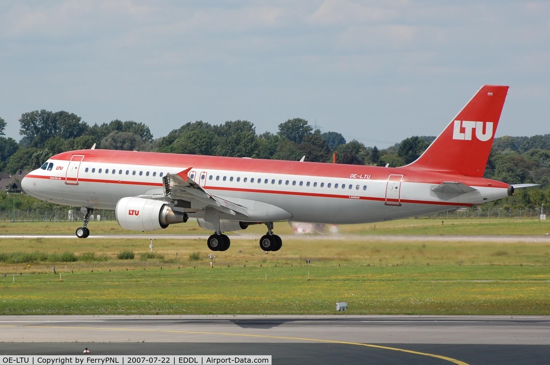 OE-LTU, 2001 Airbus A320-214 C/N 1504, Austrian LTU A320 landing in DUS