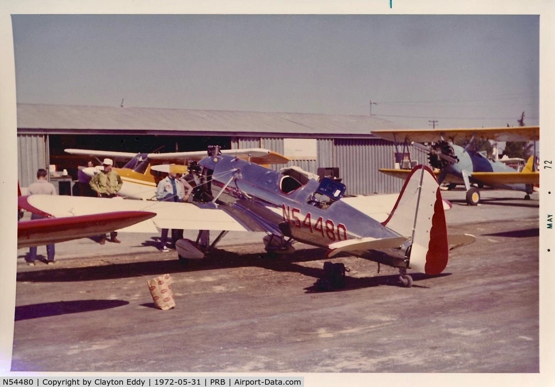 N54480, 1942 Ryan Aeronautical ST3KR C/N 1941, Paso Robles California 1972.