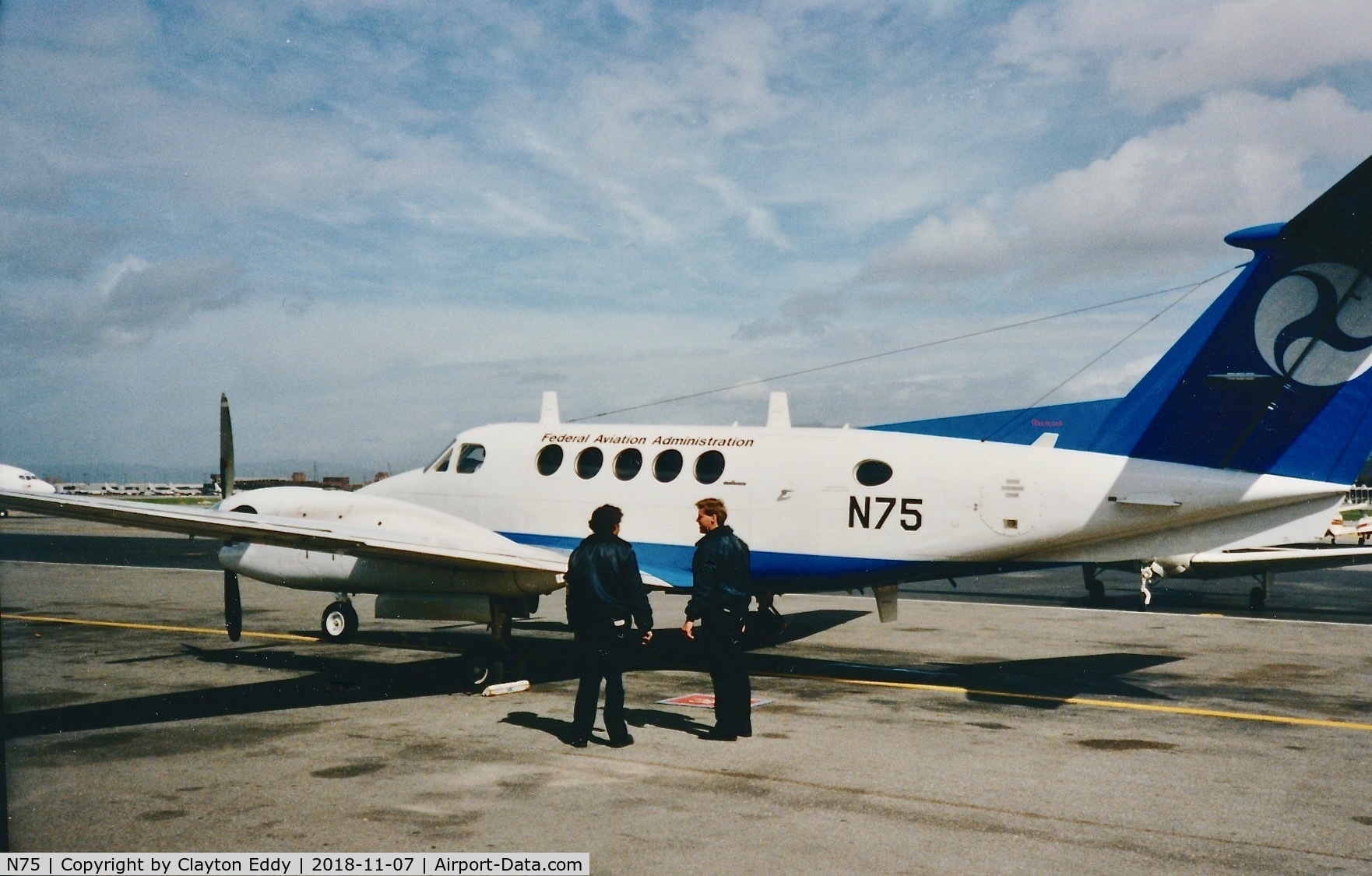 N75, 1988 Beech 300 Super King Air C/N FF-10, California 19??