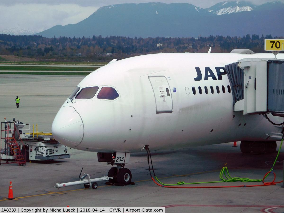 JA833J, 2013 Boeing 787-8 Dreamliner C/N 34846, At Vancouver