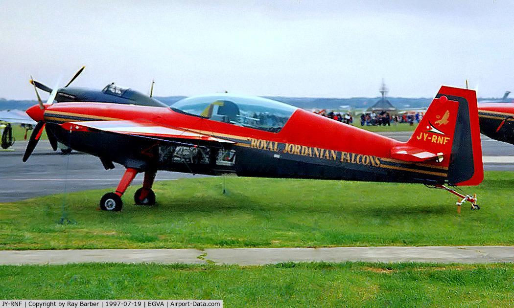 JY-RNF, Extra EA-300 C/N 063, JY-RNF   Extra EA.300 [063] (Royal Jordanian Falcons) RAF Fairford~G 19/07/1997