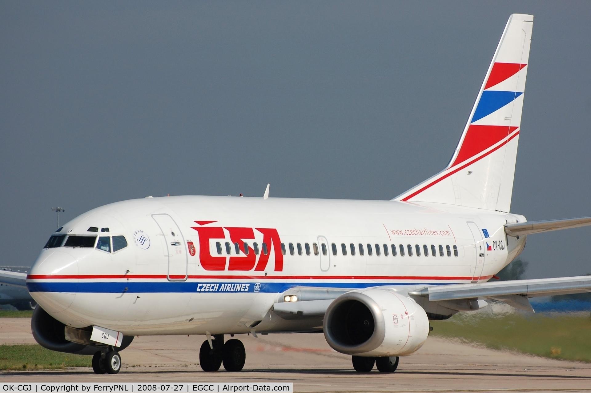 OK-CGJ, 1997 Boeing 737-500 C/N 28470, CSA B735 lining-up.
