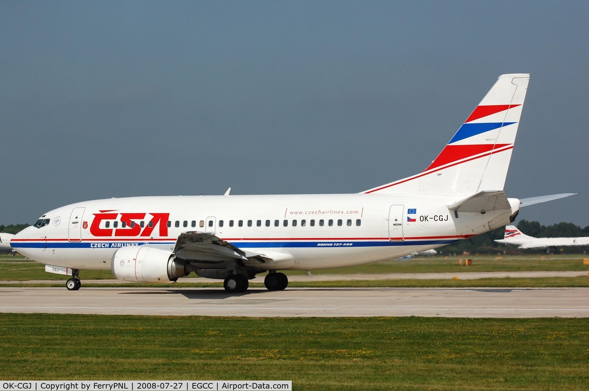 OK-CGJ, 1997 Boeing 737-500 C/N 28470, Departure of CSA B725 to PRG.