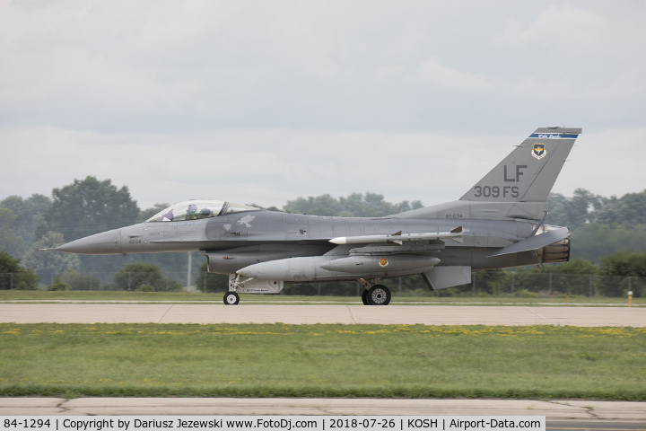 84-1294, 1984 General Dynamics F-16C Fighting Falcon C/N SC-131, F-16C Fighting Falcon 84-1294 LF from 309th FS
