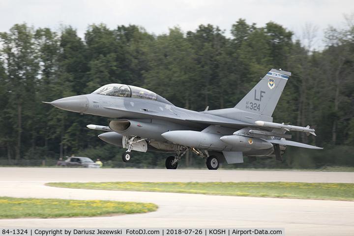 84-1324, 1984 General Dynamics F-16D Fighting Falcon C/N 5D-18, F-16D Fighting Falcon 84-1324 LF from 309th FS