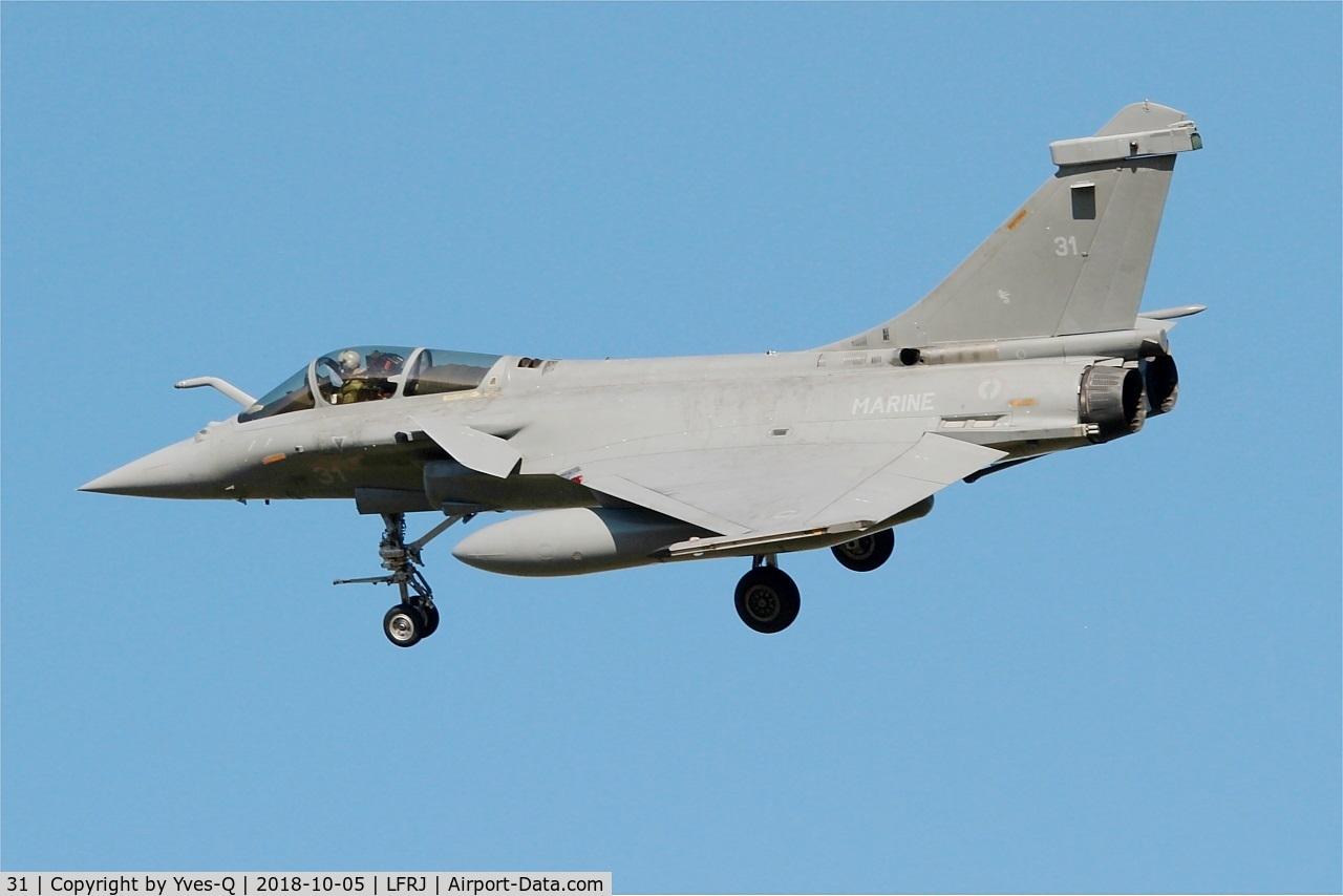31, Dassault Rafale M C/N 31, Dassault Rafale M,  On final rwy 26, Landivisiau naval air base (LFRJ)
