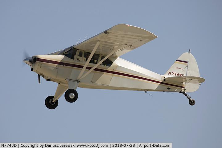 Aircraft N7743D (1957 Piper PA-22-150 Tri-Pacer C/N 22-5422