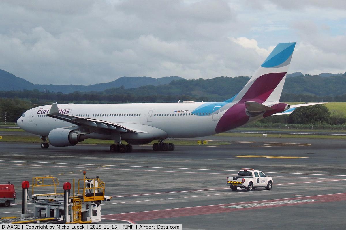 D-AXGE, 2004 Airbus A330-202 C/N 612, At Mauritius