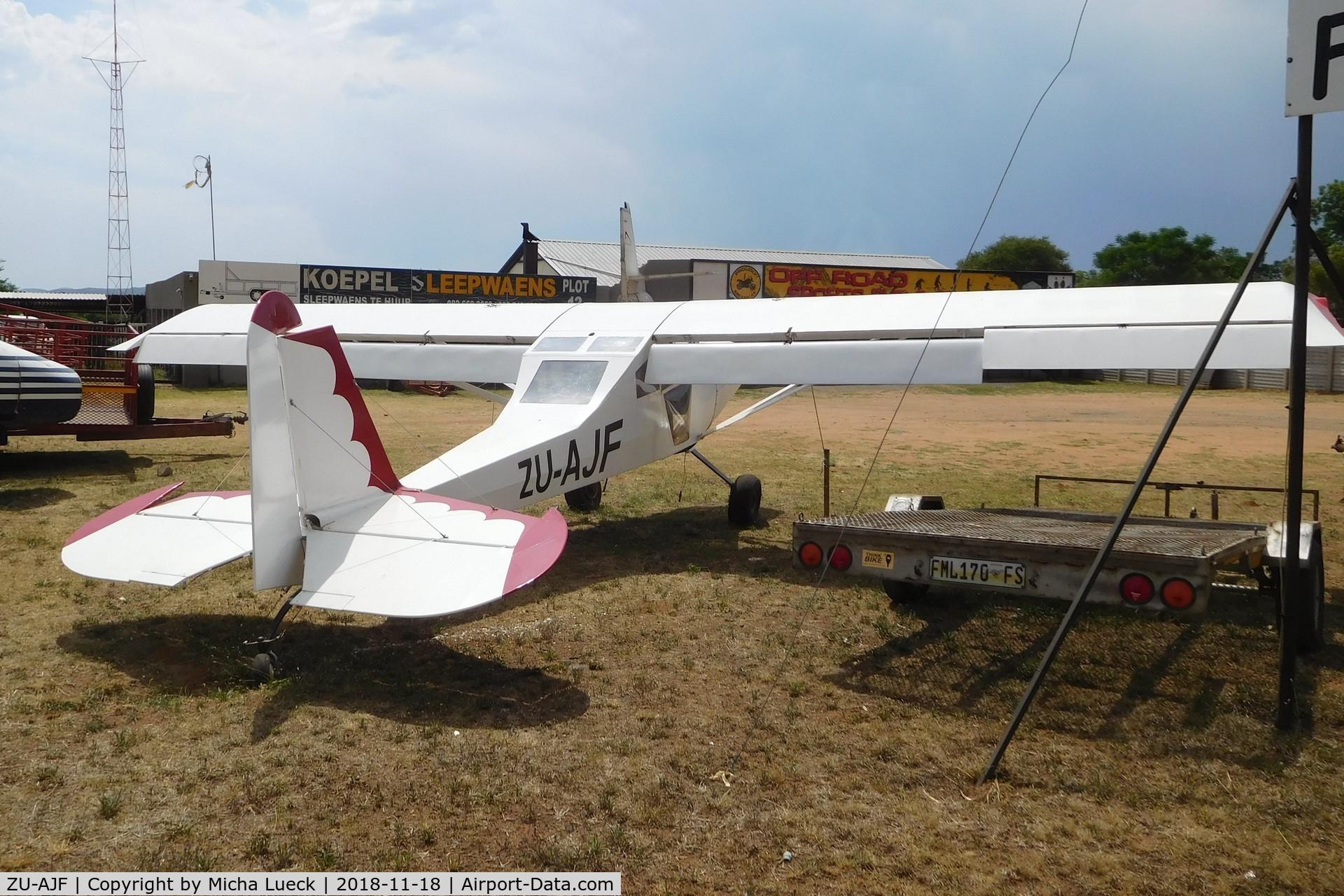 ZU-AJF, Safari Safari C/N JFF-01, On some private land, close to Parys, South Africa
