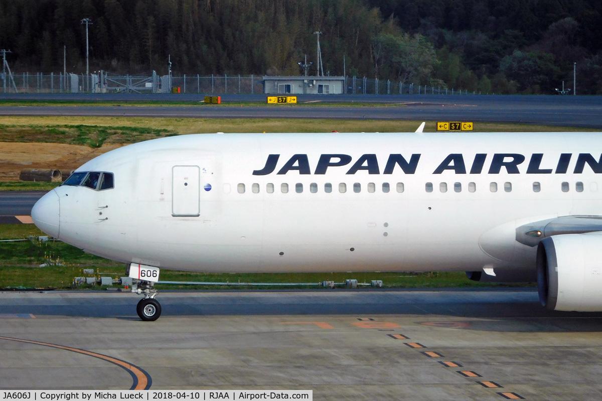 JA606J, 2003 Boeing 767-346/ER C/N 33495, At Narita