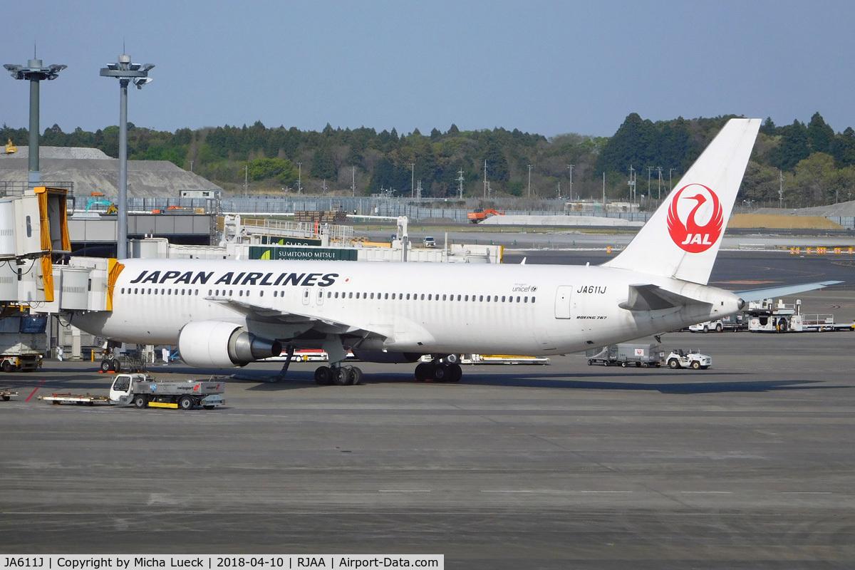 JA611J, 2004 Boeing 767-346/ER C/N 33847, At Narita
