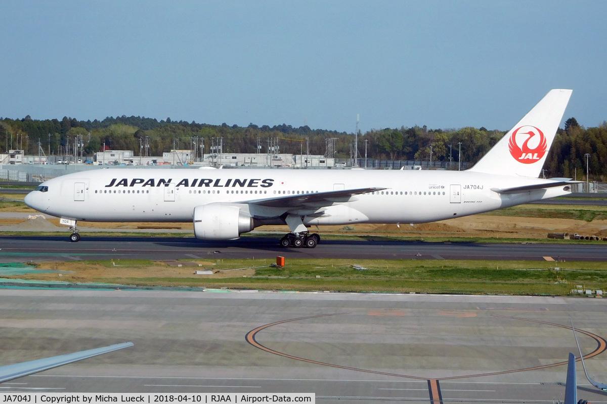 JA704J, 2003 Boeing 777-246/ER C/N 32892, At Narita