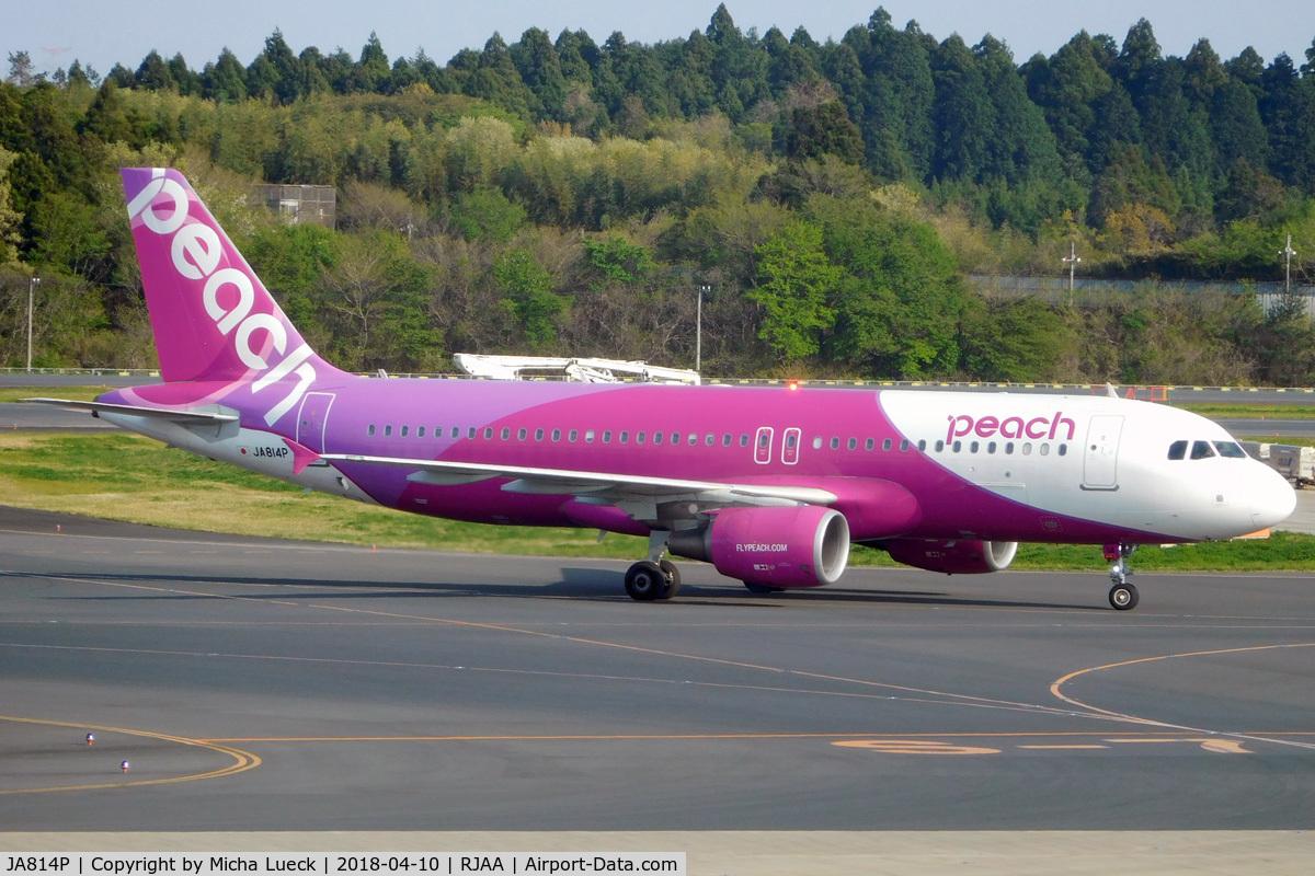 JA814P, 2014 Airbus A320-214 C/N 6335, At Narita